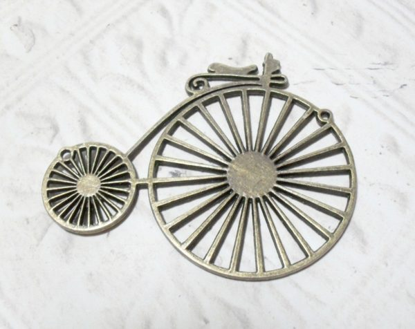 Brass Vintage Bicycle Pendant Large
