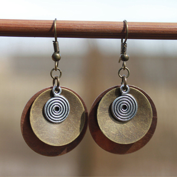 Copper-Brass-Mixed-Metal-Coin-Earrings