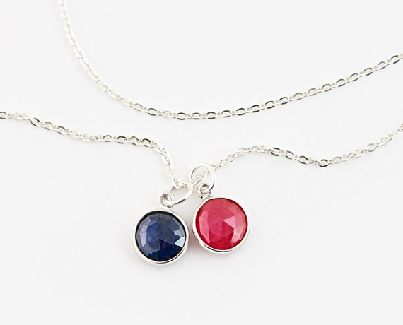Layered-Ruby-Birthstone-Necklace