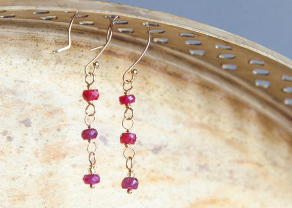 Long-Natural-Ruby-Drop-Dangle-Earrings
