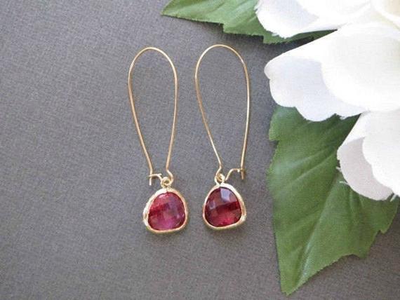 Long-Wired-Ruby-Birthstone-Earrings