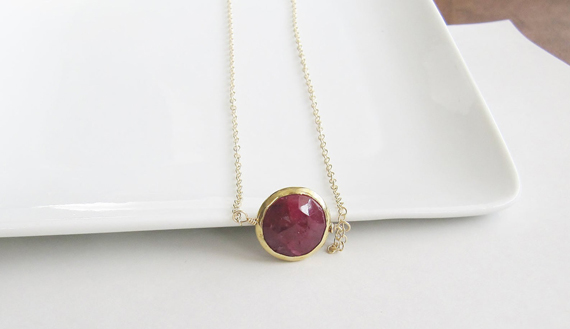 Ruby-Birthstone-Necklace-with-Bezel-End