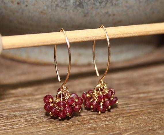 Ruby-Cluster-Earrings