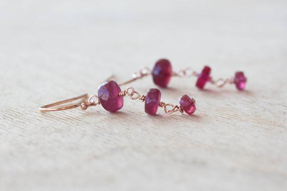 Ruby-Wire-Wrapped-Birthstone-Earrings