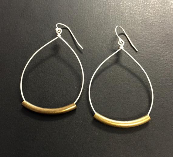 Rustic-Hoop-Mixed-Metal-Earrings