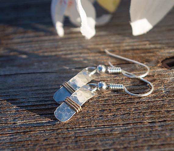 Silver-Bar-Mixed-Metal-Earrings