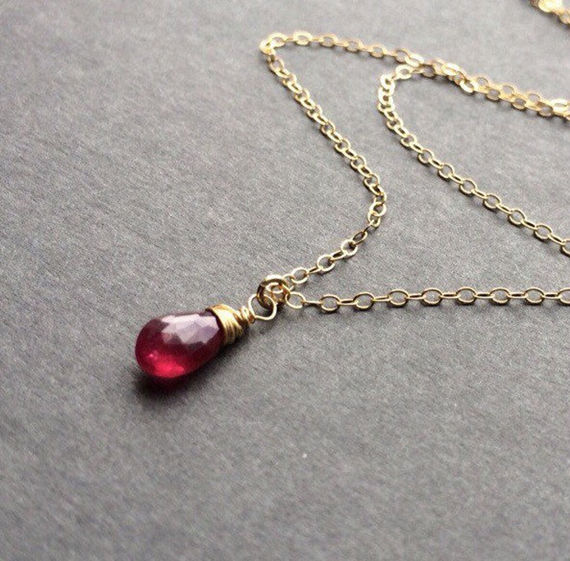 Small-Ruby-Wire-Wrapped-Pendant-Birthstone-Necklace