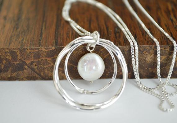 Pearl-Hanging-Loop-Birthstone-Necklace