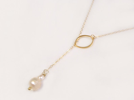 Pearl-Lariat-Birthstone-Chain-Necklace