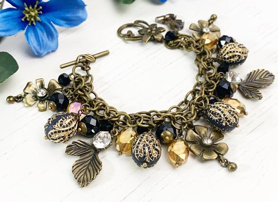 Brass-Charmed-Chunky-Bracelet