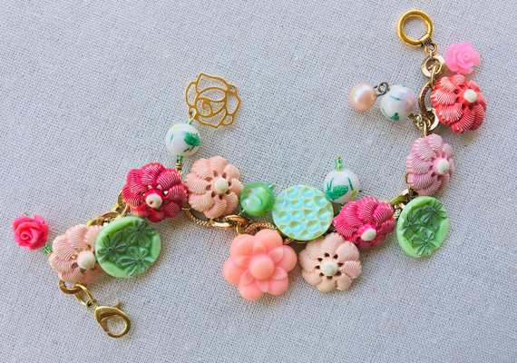 Floral-Chunky-Charm-Bracelet