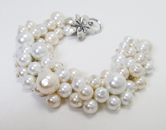 Pearl-Cluster-Chunky-Bracelet