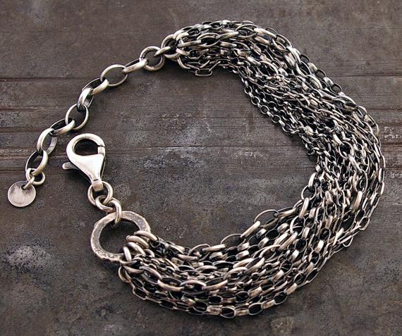 Sterling-Silver-Layered-Chunky-Bracelet