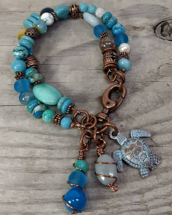 Turtle-Multi-Strand-Chunky-Bracelet
