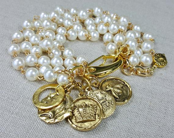 White-Pearl-Charm-Chunky-Bracelet