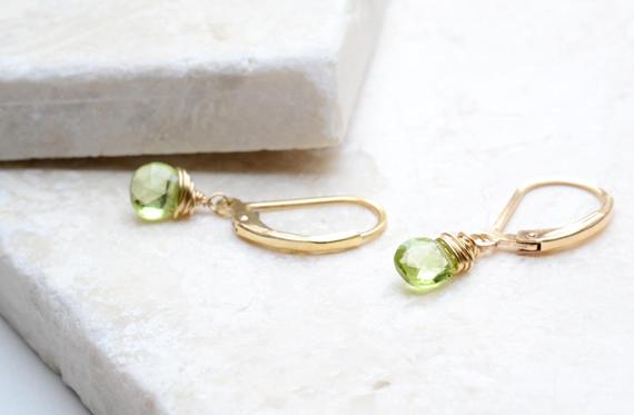 Peridot-Lever-Back-Drop-Earrings
