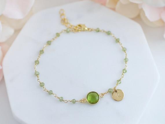 Peridot-Wire-Linked-Birthstone-Bracelet