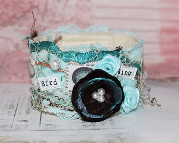 Flower-Lace-Button-Fabic-Cuff