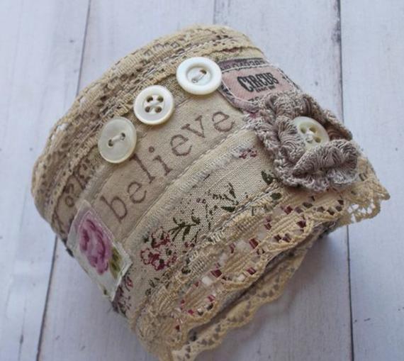 Linen-Stamped-Fabric-Cuff-Bracelet