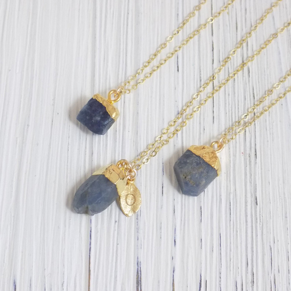 Raw-Sapphire-Birthstone-Necklace