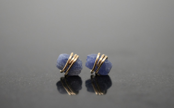 Raw-Sapphire-Studded-Earrings
