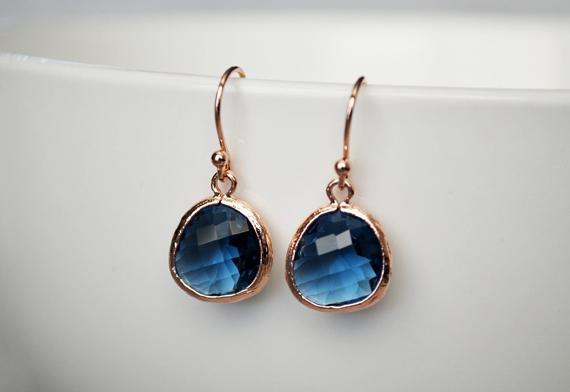 Rose-Gold-Sapphire-Birthstone-Earrings