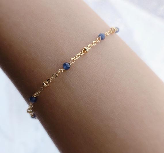 Sapphire-Birthstone-Chain-Bracelet