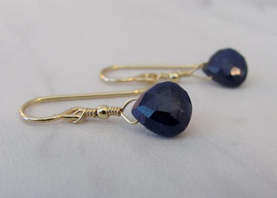 Sapphire-Briolette-Wire-Wrapped-Earrings