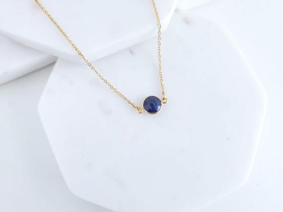 Sapphire-Gemstone-Birthstone-Choker