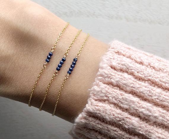 Sapphire-Small-Gemstone-Bar-Bracelet