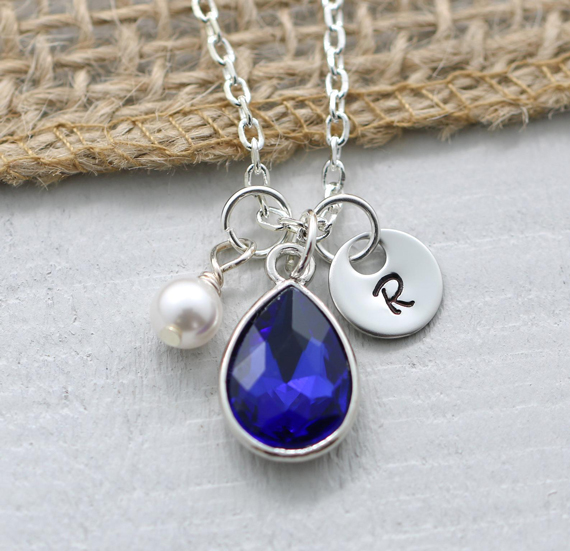 Sapphire-Wire-Wrapped-Pearl-Necklace
