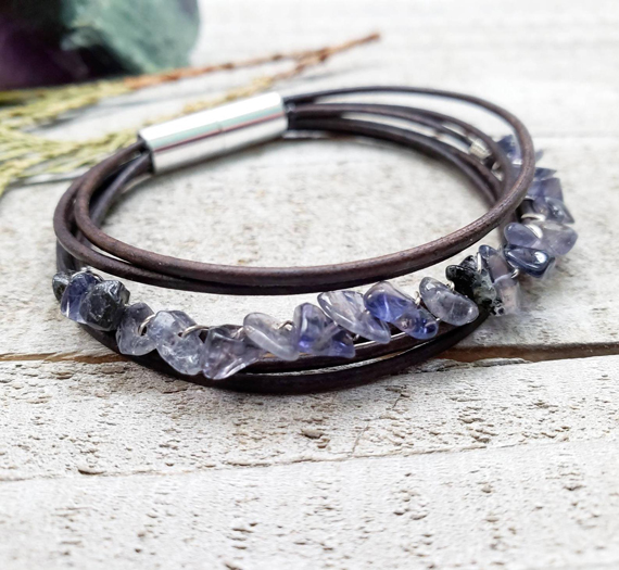 Sapphire-and-Leather-Layered-Bracelet