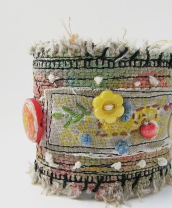 Tattered-Embroidered-Fabric-Cuff-Bracelet