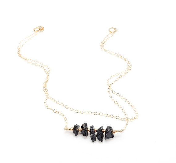 Black-Tourmaline-Gold-Chain-Anklet