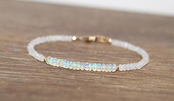 Opal-Beaded-Birthstone-Bracelet