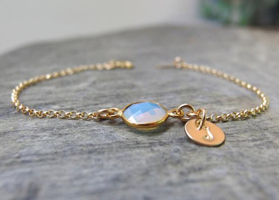 Opal-Charm-Birthstone-Bracelet
