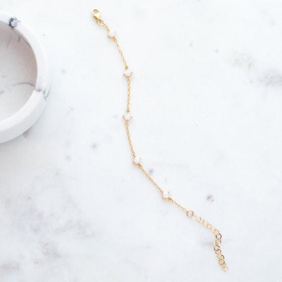 Opal-Dainty-Chain-Birthstone-Bracelet
