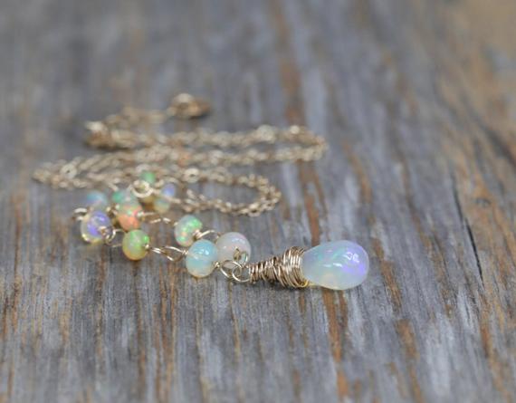 Opal-Teardrop-Wire-Wrapped-Necklace