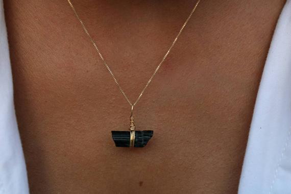Raw-Gold-Wire-Wrapped-Tourmaline-Birthstone-Necklace