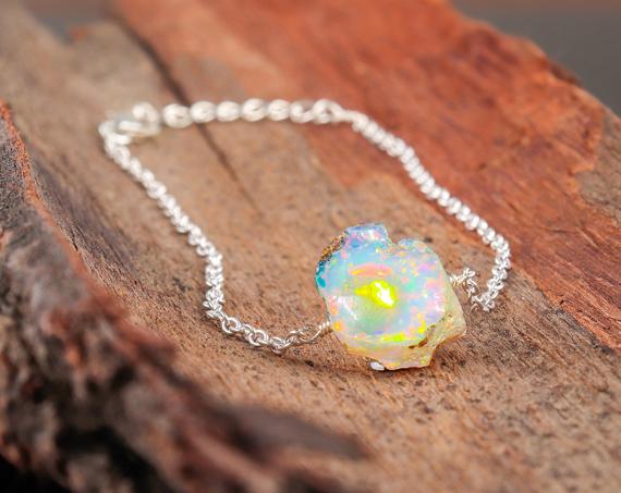 Raw-Opal-Birthstone-Bracelet