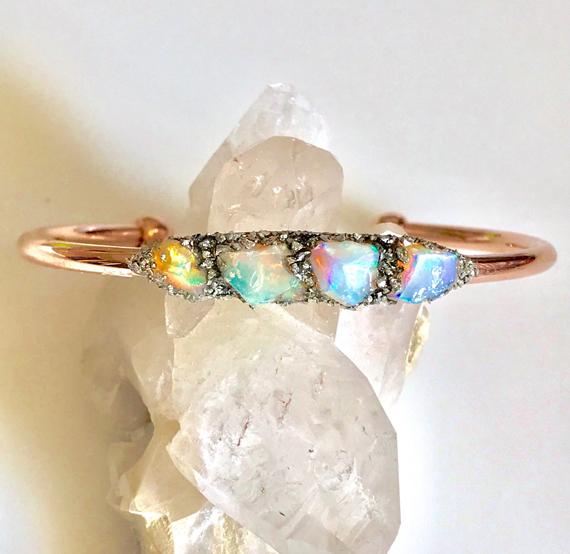 Rough-Opal-Hand-Forged-Cuff